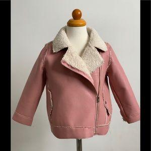 Zara BabyGirl faux shearling jacket